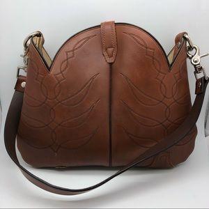 Acme Brown Leather Boot Shoulder Bag